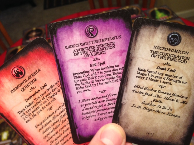 The spell cards are loaded with flavor.