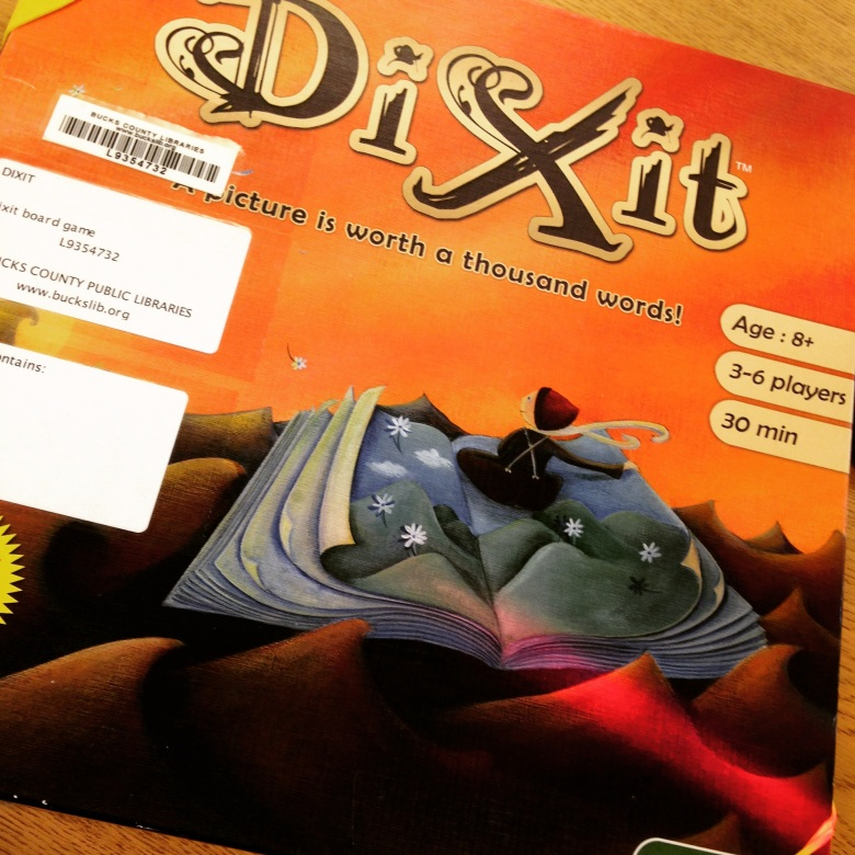 Dixit is very popular but all those labels can really gunk up a smaller box-top.